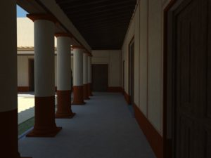 Reconstrucción de la Casa romana del Bailío en el s. I d.C. (AST)