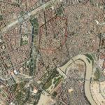 Muralla romana republicana sobre la ciudad actual (AST)